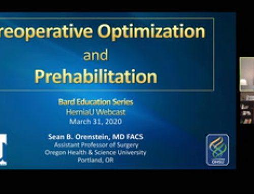 Preop Optimization & Prehabilitation